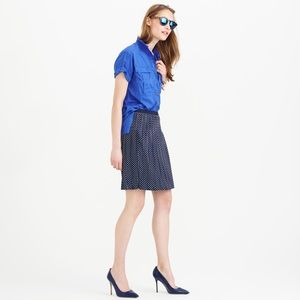 Jcrew collection stitched down polka dot skirt